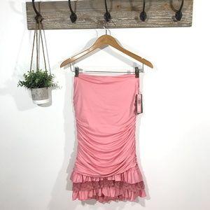 NWT JUICY COUTURE Ruffle Maillot Swim Dress XL